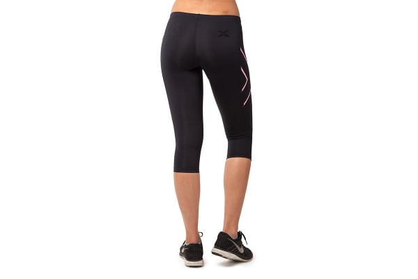 2XU Women's 3/4 Compression Tights G1 (Black/Baby Pink, Size M)