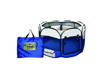 Pet Soft Play Large Round Crate Cage Tent Portable
