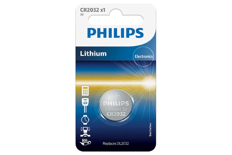 2PK Philips Button Cell 3V Lithium Alkaline Coin CR2032 Battery f/ Small Devices