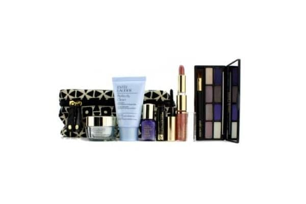 Estee Lauder Travel Set: Perfectly Clean + DayWear Cream + Perfectionist [CP+R] + EyeShadow + Mascara #01 + Lipstick #57 & Lip Gloss #25 + Bag (6pcs+1bag)