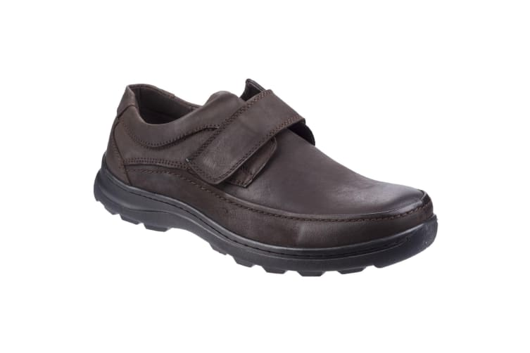 Fleet & Foster Mens Hurghada Leather Shoes (Brown) (11 UK)