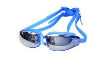 100% UV Protection Unisex No Leaking Triathlon  Swimming Goggles Blue