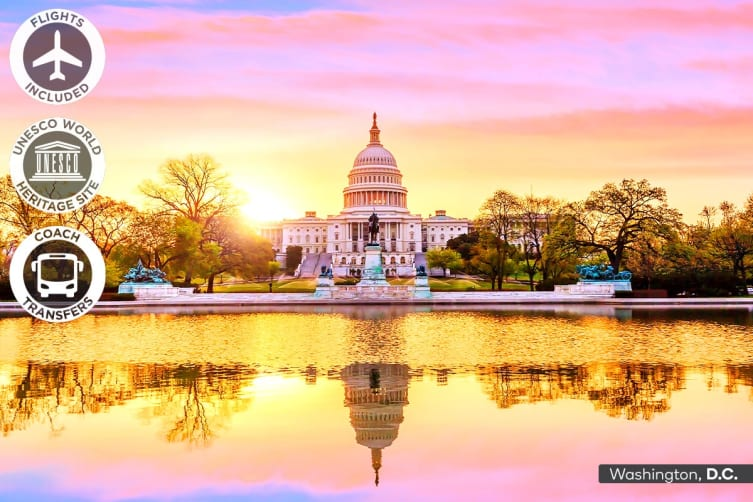 USA & CANADA: 12 DAY Eastern USA & Canada Tour Including Flights for Two