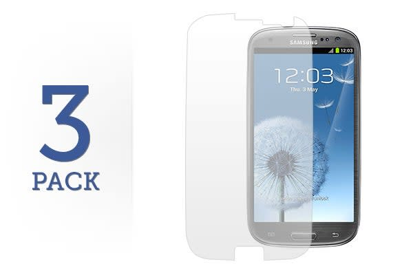 3 Pack Screen Protector for Samsung Galaxy S3