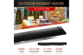 MAXKON 2400W Electric Outdoor Infrared Radiant Heater