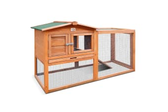 Chicken Coop Run Large Wood Outdoor Rabbit Hutch Hen Cage House - 156cm