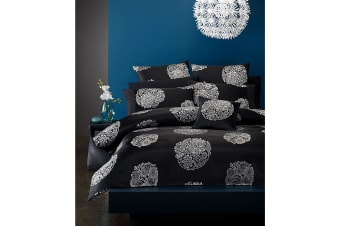 Blossom Black Quilt Cover Set by Phase 2