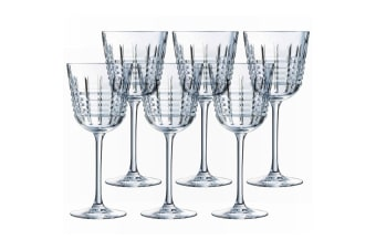 6PK Cristal D'Arques Rendez-Vous 350ml Red White Wine Glasses Bar Tableware
