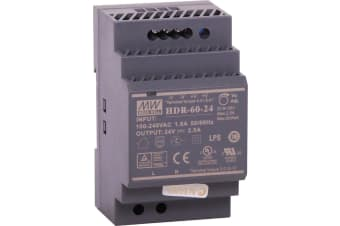 60W 24VDC 2.5A DIN Rail Switchmode Power Supply LED power indiciator