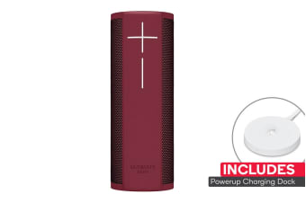 Logitech UE Blast with PowerUp Stand (Merlot Red)
