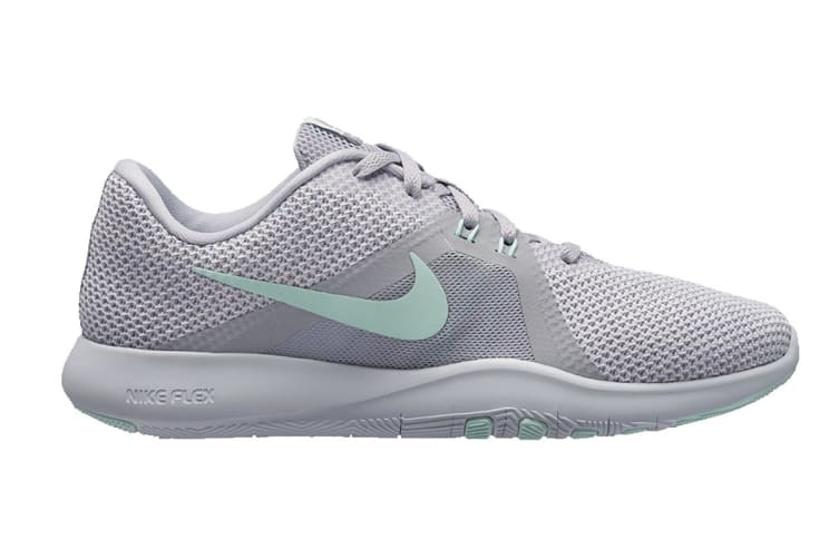 Nike Women's Flex Trainer 8 (Grey/White, Size 8 US)