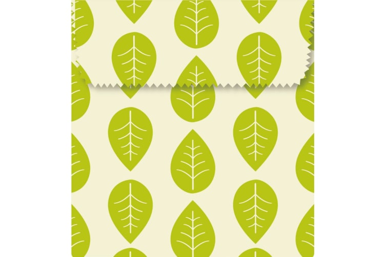 Karlstert Natural Beeswax Sandwich Pouch Leaves Set of 2
