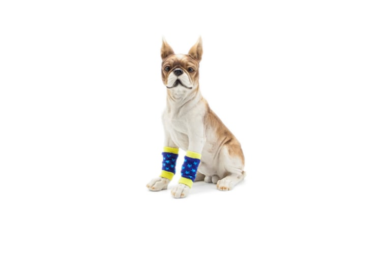 Pet Sock Protect Joint Knee Pads Support Brace Hind Leg Hock Joint Wrap Black White S