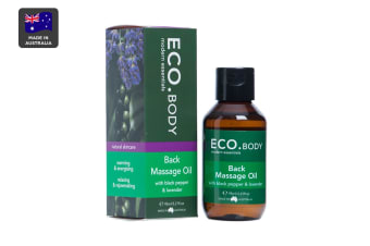 ECO. Back Massage Oil with Black Pepper & Lavender (95mL)