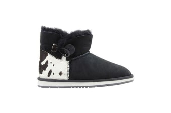 Auzland Cow Print Mini Bailey Button Ugg Boot