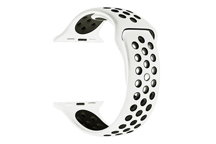 Soft Silicone Replacement Band Watch Band For Apple Watch Series 5 4 3 2 1 Watch Band for Iwatch 5 White Black 42MM 44MM
