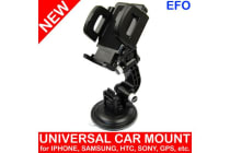 Universal In Car Suction Mount Mobile Smart Phone Holder 360 Rotating Cradle