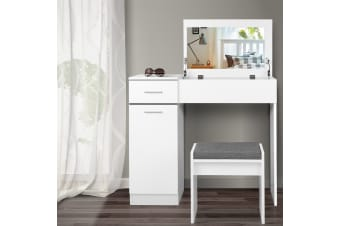 Artiss Dressing Table with Drawers - White