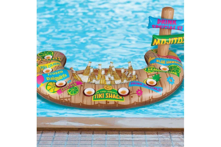 Tiki Inflatable Swim-Up Floating Pool Bar | BigMouth Inc.