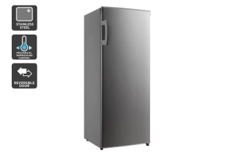Kogan 172L Upright Freezer - Stainless Steel