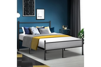 DOUBLE Size Metal Bed Frame SIMON Mattress Base Platform Foundation