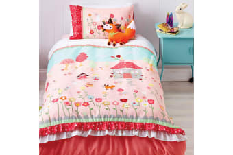 Cubby House Reversible Storybook Quilt Cover Set Double