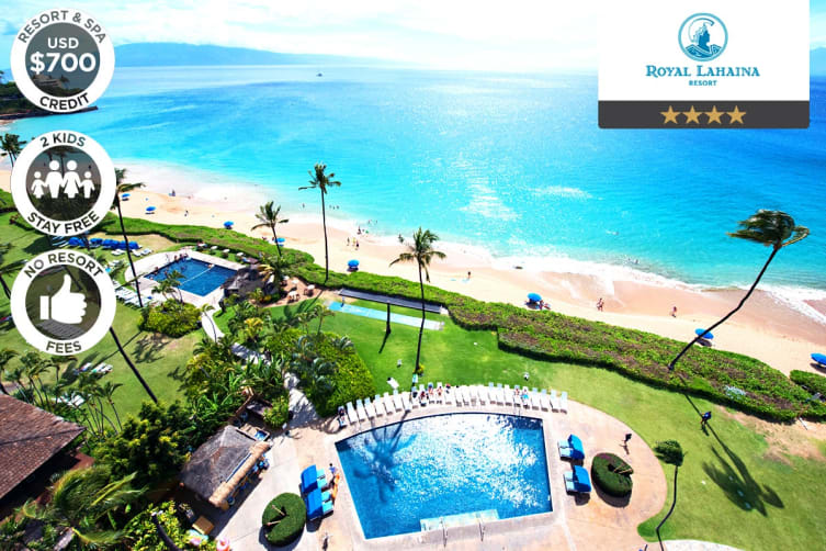 HAWAII: 5 Night Island Escape at the Royal Lahaina Resort for Two (Deluxe Ocean View)