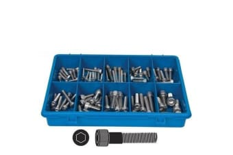 70 PCE STAINLESS STEEL HEXAGON  SOCKET HEAD SCREW ASSORTMENT FASTENER KIT 102678