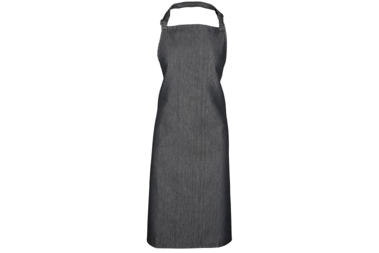 Premier Colours Bib Apron / Workwear (Pack of 2) (Black Denim) (One Size)