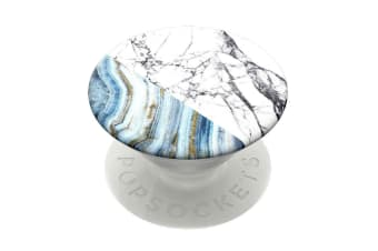 PopSockets Universal Swappable PopGrip Holder w/ Base Aegan Marble for Phones