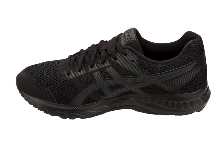 ASICS Men's GEL-Contend 5 Running Shoe (Black/Dark Grey, Size 12)