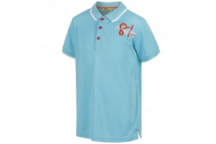 Regatta Great Outdoors Childrens/Kids Talor Quick Dry Polo Shirt (Horizon) (11-12 Years)