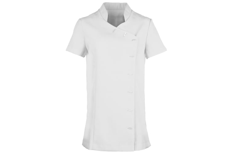 Premier Womens/Ladies *Orchid* Tunic / Health Beauty & Spa / Workwear (Pack of 2) (White) (16)