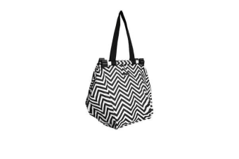 Sachi Shopping Trolley Bag Chevron Stripe