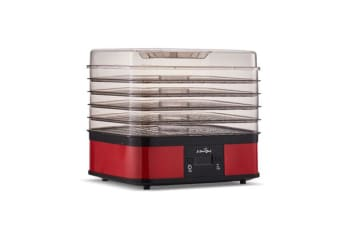 5 Star Chef Food Dehydrator with 5 Trays (Red)