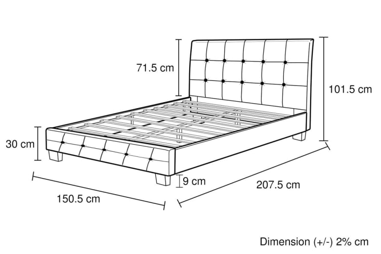 Melbournians Furniture Soho Bed Frame (Double, White)