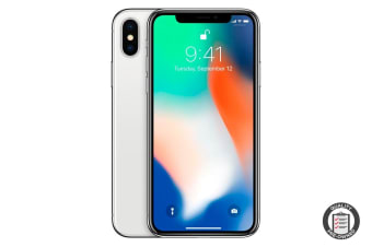 Refurbished Apple iPhone X (64GB, Silver)