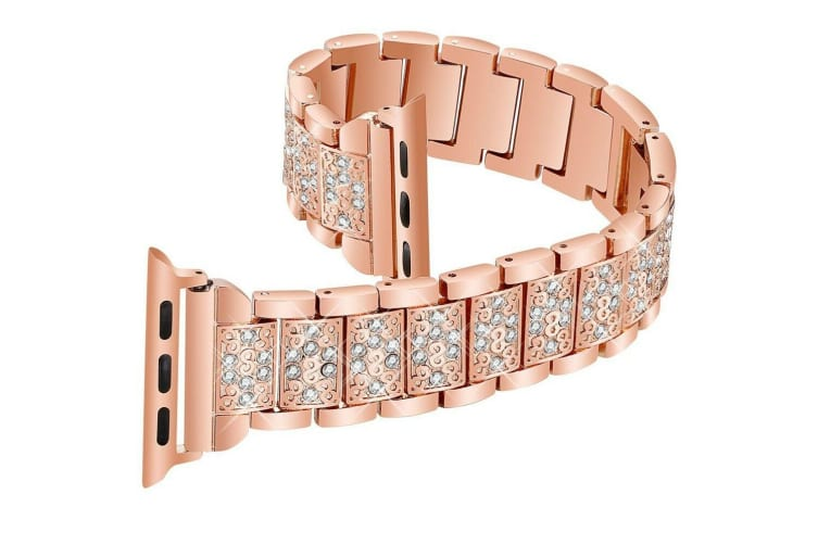 OZ Apple Watch Series 5 4 321 38MM Stainless Steel Bracelet iWatch Band Strap-RoseGold
