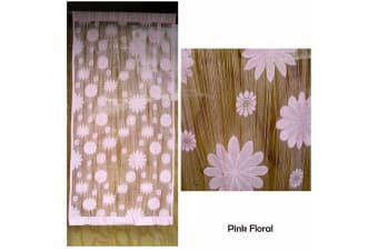 String Curtain For Window Or Door Pink Floral by Choice