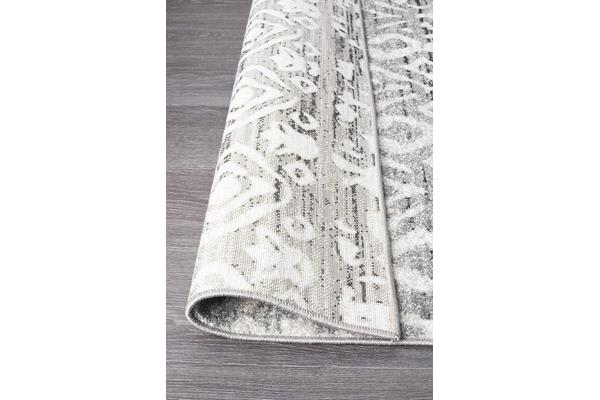 Amelia Grey & Bone Ivory Boho Durable Runner Rug 300x80cm
