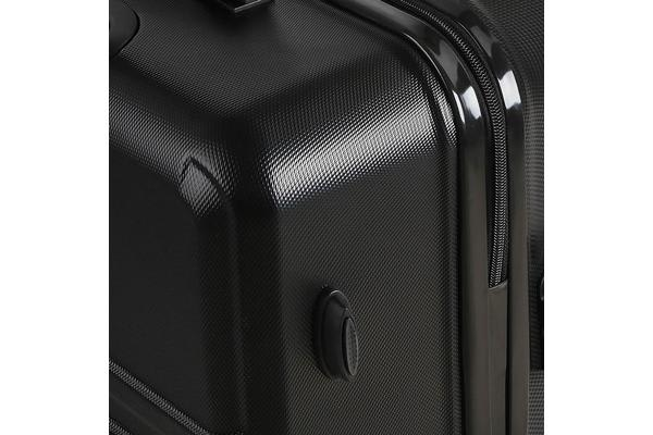 20inch and 28inch Lightweight Hard Suit Case with Hand Scale (Black)