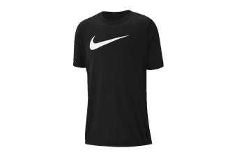 Nike Dri-FIT Swoosh Boy's Training T-Shirt (Black/White)