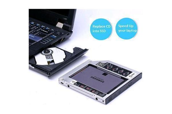 Universal 9.5mm SATA 2nd HDD/SSD Hard Drive Caddy For CD/DVD-ROM Optical Bay (Not For Mac)
