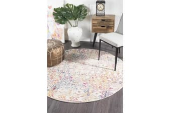 Amelia Multi Scandi Durable Round Rug 240x240cm