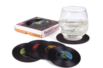 Set of 4 LP Record Coasters | They Look Just Like Records! | Gamago