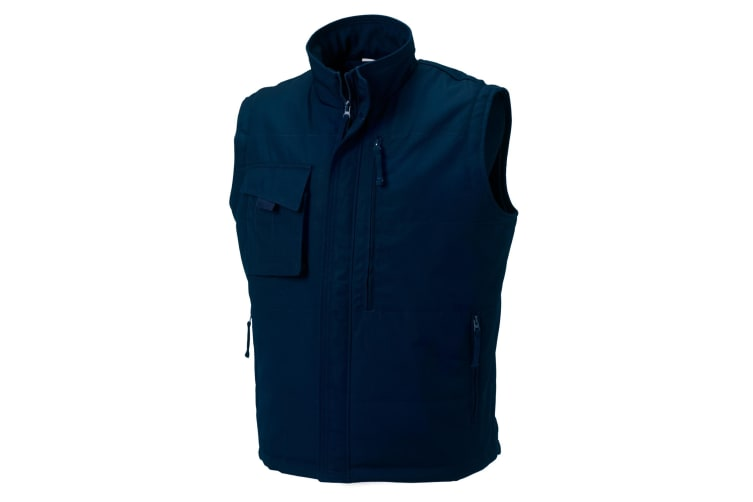 Russell Mens Workwear Gilet Jacket (French Navy) (XS)