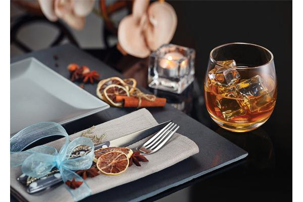 Milano Décor Whisky Rockers Glass - Set of 2
