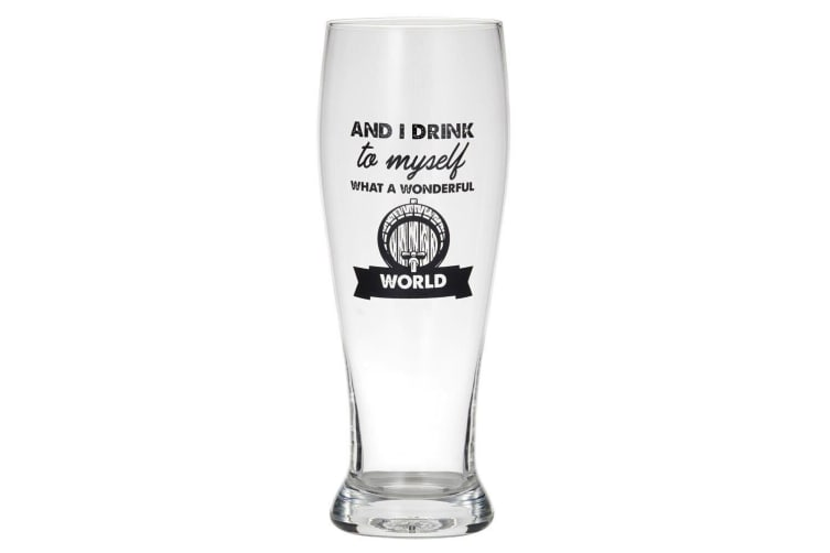 2pc Giftworks 550ml Beer Drinking Glass Barware - Save Water & I Drink To Myself