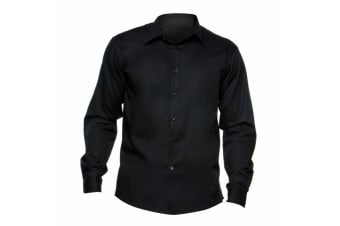 Bargear® Mens Long Sleeved Bar Shirt / Mens Shirts (Black)