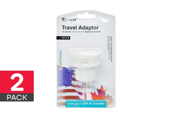 2-Pack Sansai Travel Adapter - USA & Canada (STV-9)